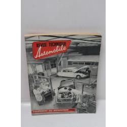 Revue technique automobile équipement du réparateur 1956