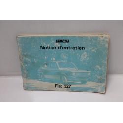 Notice d'entretien pour Fiat 127 L 127 C 127 CL Vintage Garage