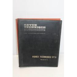 Lot de Fiches techniques RTA Revue technique automobile divers années