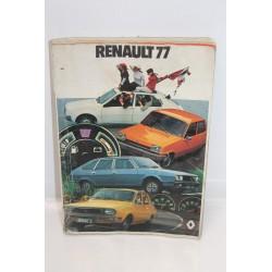 Livre de présentation de la gamme pour Renault année 1977