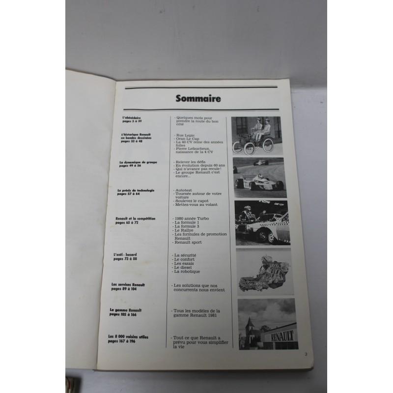 livre histoire de renault ann e 1981 vintage garage. Black Bedroom Furniture Sets. Home Design Ideas