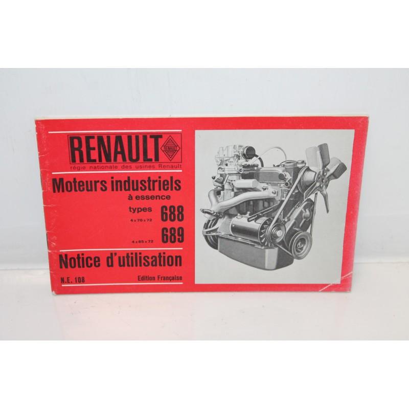 Notice d utilisation moteurs essence renault types 688 et 689 vintage garage - Essence de terebenthine utilisation ...