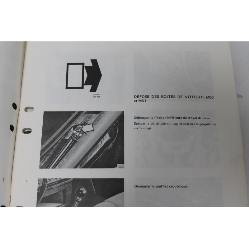 manuel de service volvo 264 boite de vitesse m50 et m51 vintage garage. Black Bedroom Furniture Sets. Home Design Ideas