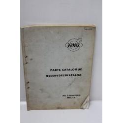 Catalogue de pièces détachés pour Volvo moteurs AQ D21A / 250D MD21A en anglais
