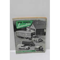 Revue technique automobile véhicule utilitaire 1956 Vintage