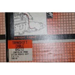 Câble de boite de vitesse pour Chrysler 2,2l 2,5l de 1986 à 1988