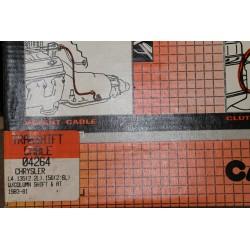 Câble de boite de vitesse pour Chrysler 2,2l 135 2,6l 156  de 1981 à 1983