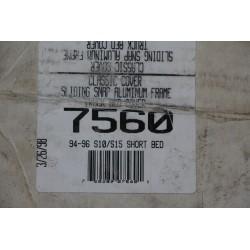 Bache de couverture de benne courte pickup pour Chevrolet S10