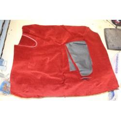 Moquette de coffre rouge pour MGA