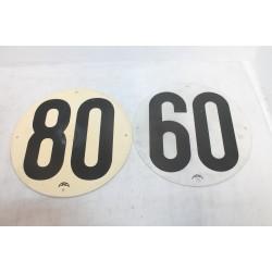 Disques de vitesses a fixer 60 et 80