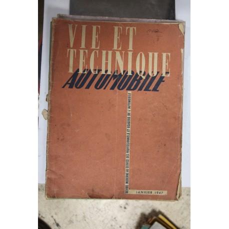 Revues techniques janvier 1947 Citroën Traction Vintage Garage