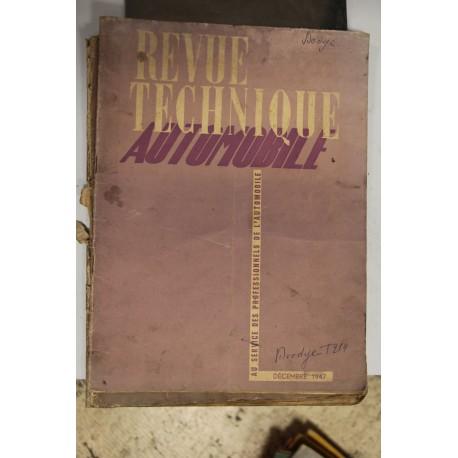 Revues techniques décembre 1947 Vintage Garage