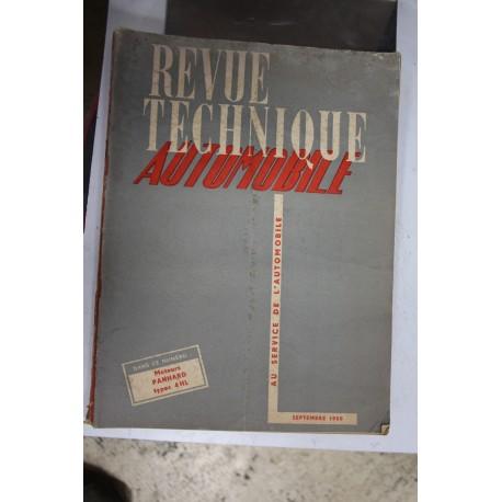 Revues techniques septembre 1950 Moteur Panhard type 4 HL