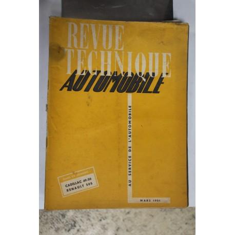 Revues techniques mars 1951 pour Cadillac 49-50 pour Renault 505