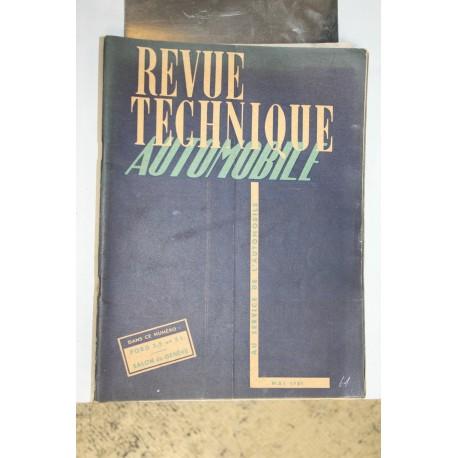 Revues techniques mai 1951 pour Ford 3,5t et 5,0t et Salon de Genève