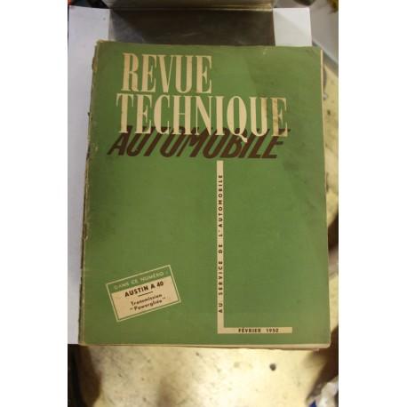 Revues techniques février 1952 pour Austin A40 et Transmission