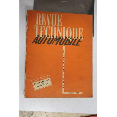 Revues techniques juillet 1952 Delahaye 148 L et boite pour