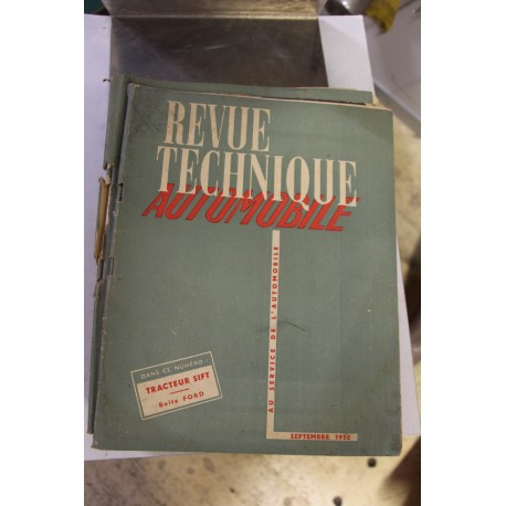 Revues techniques septembre 1952 Tracteur Sift et boite pour