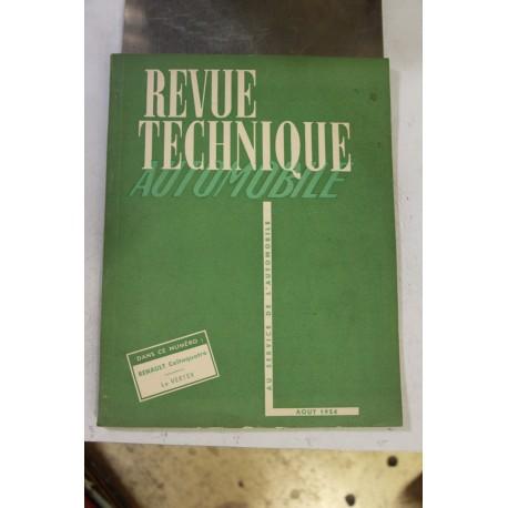 Revues techniques août 1954 pour Renault Celtaquatre et Le