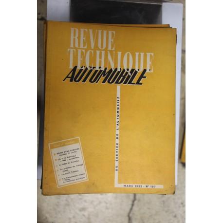 Revues techniques mars 1955 étude Dyna Panhard 54-55 partie 2 et la 4cv pour Renault «1063» compétition