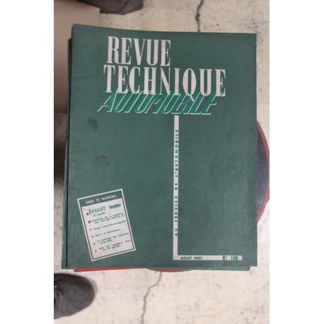 Revues techniques août 1957 pour Renault Dauphine ( 2eme