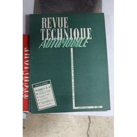 Revues techniques août 1959 Citroën H – HZ et HY (2eme partie)