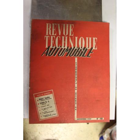 Revues techniques novembre 1959 pour Renault dauphine 58-59-60