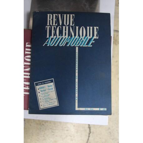 Revues techniques mai 1961 pour Renault Ondine Gordini et