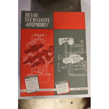 Revues techniques juin 1963 pour Renault 580 1000 1400 kg et