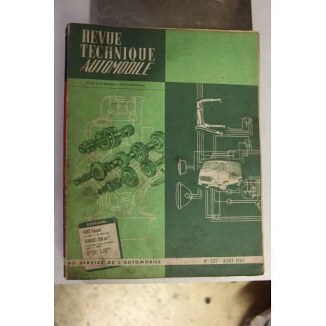 Revues techniques août 1965 pour Ford Taunus 12 MP 4 et dérivés