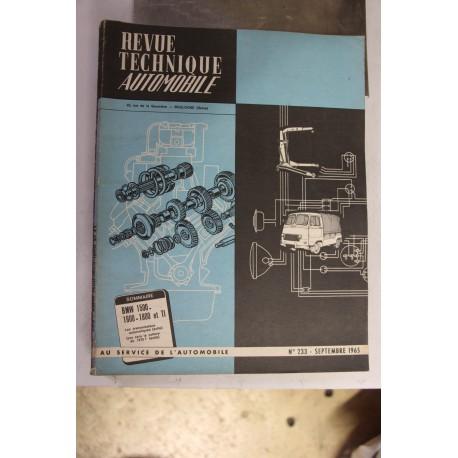 Revues techniques septembre 1965 pour BMW 1500 – 1600 – 1800 et TI