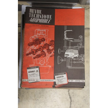 Revues techniques janvier 1966 pour Renault 16 Vintage Garage