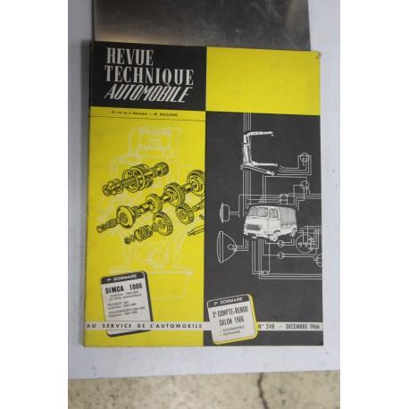Revues techniques décembre 1966 pour Simca 1000 64-67 et boite automatique