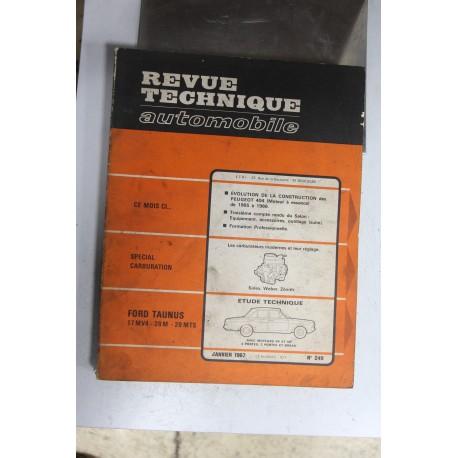 Revues techniques janvier 1967 n°249 pour Ford Taunus 17MV4