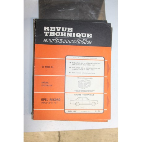Revues techniques mars 1967 n°251 pour Opel Rekord type B et C