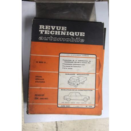 Revues techniques juin 1967 n°254 pour Peugeot 204 66-67