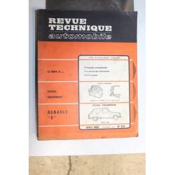 Revues techniques avril 1969 n°276 pour Renault 6 type R1180