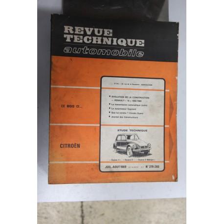 Revues techniques juillet/août 1969 n°279/280 Citroën Dyane 4