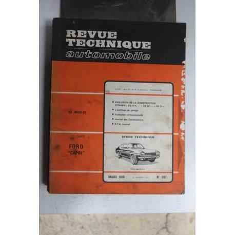 Revues techniques mars 1970 n°287 pour Ford Capri tous models