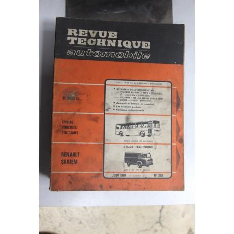 Revues techniques juin 1970 n°290 pour Renault Saviem SG2, SG4