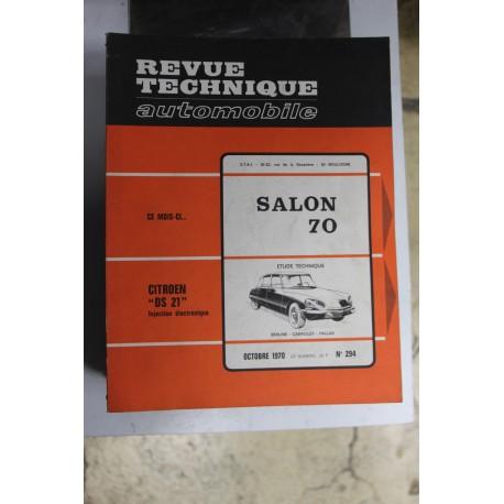 Revues techniques octobre 1970 n°294 Citroën DS21 injection