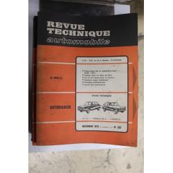 Revues techniques novembre 1970 n°295 pour Autobianchi A111 , Primula 65c et Coupé S