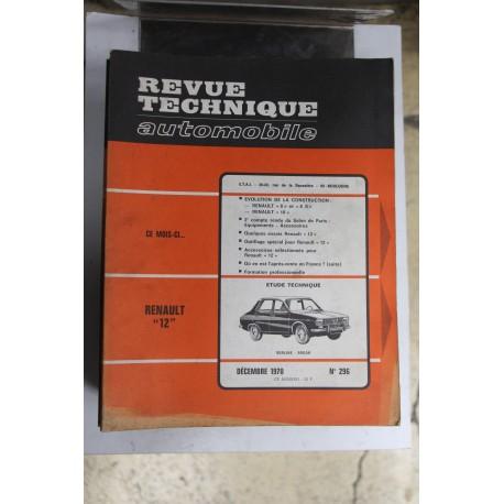 Revues techniques décembre 1970 n°296 pour Renault 12 berline