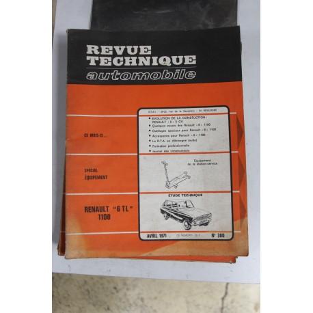 Revues techniques avril 1971 n°300 pour Renault 6 TL 1100