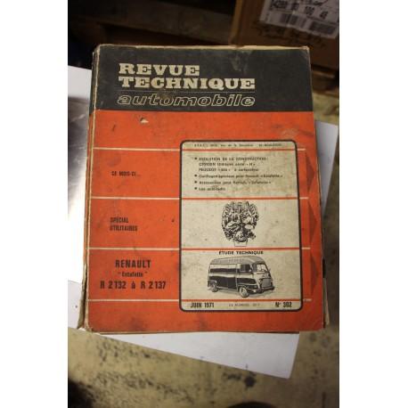 Revues techniques juin 1971 n°302 pour Renault Estafette R2132 à R2137