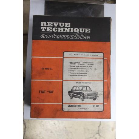 Revues techniques novembre 1971 n°307 pour Fiat 128