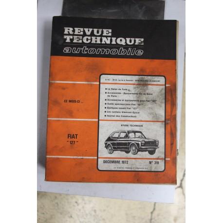 Revues techniques décembre 1972 n°319 pour Fiat 127 Vintage