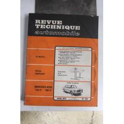 Revues techniques avril 1973 n°323 pour Mercedes 220 D et 200 D