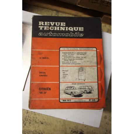 Revues techniques mai 1973 n°324 Citroën DS23 Vintage Garage