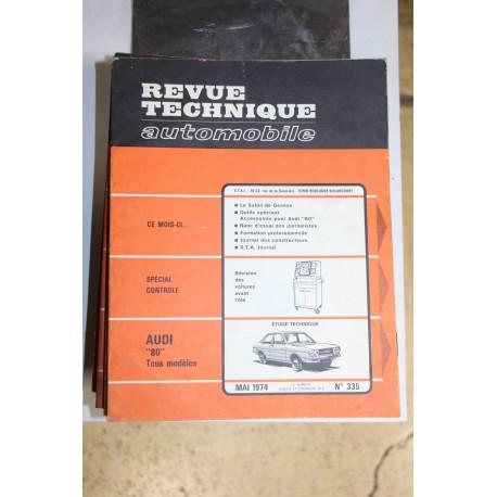Revues techniques mai 1974 n°335 pour Audi 80 tous modèles